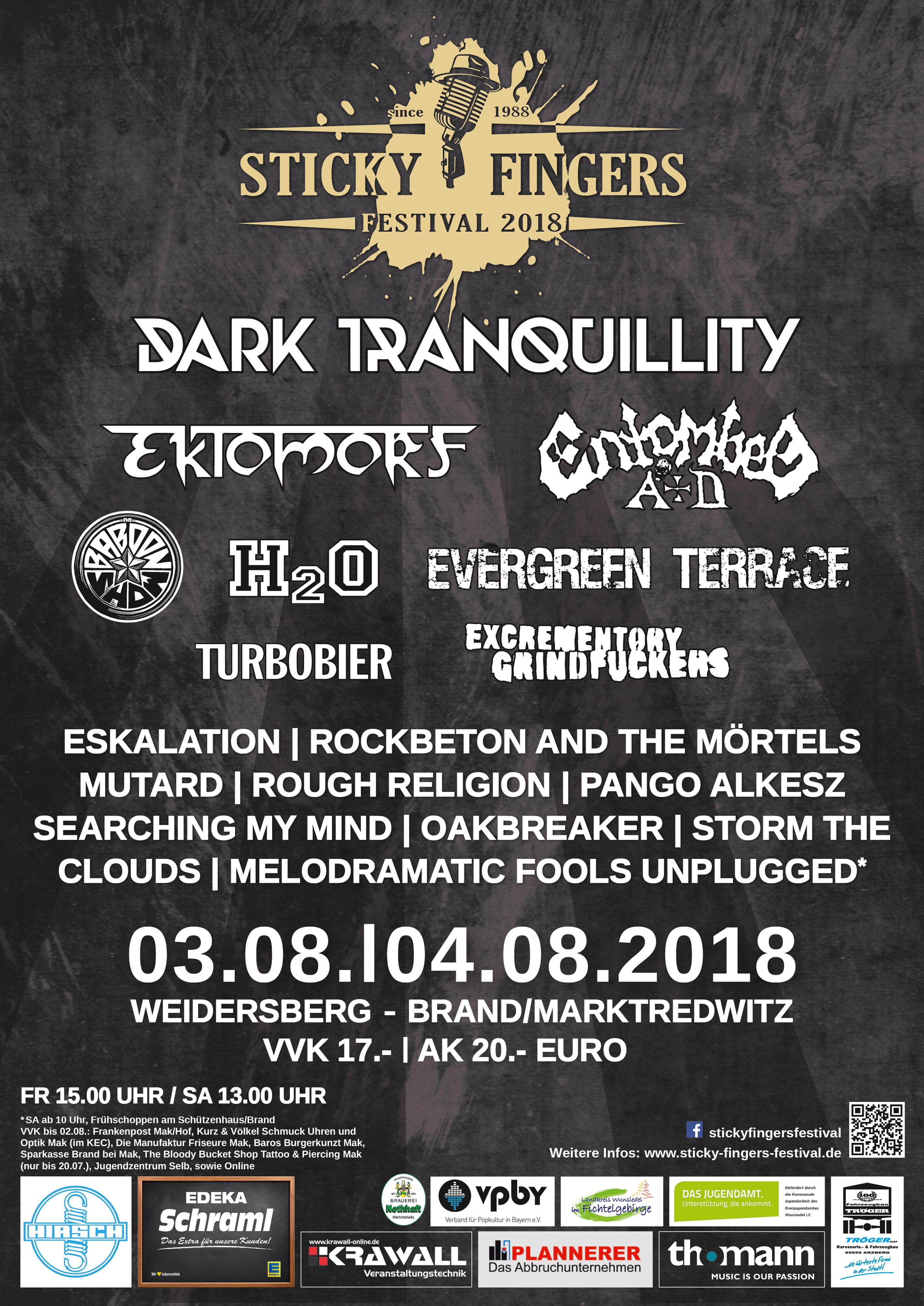 Plakat Sticky Fingers Festival 2018