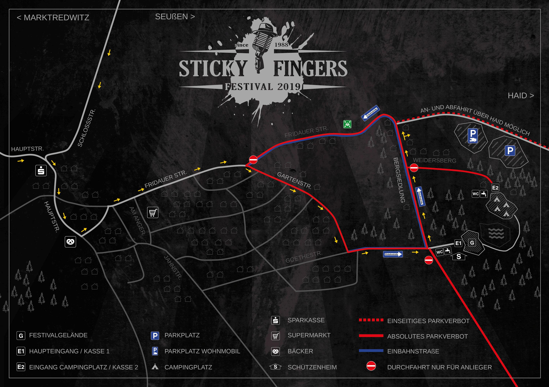 Lageplan Sticky Fingers Festival 2019